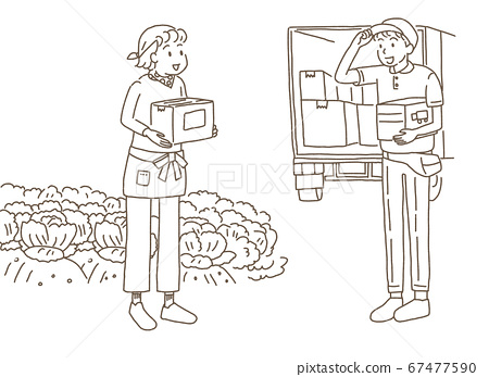 Farmer woman shipping directly from the production area 67477590