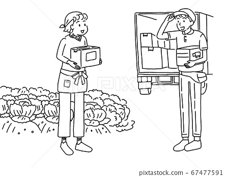 Farmer woman shipping directly from the production area 67477591