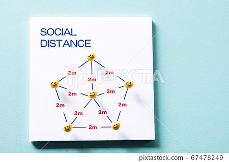 社交距離保持社交距離 67478249
