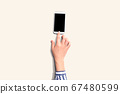 Person using a smartphone 67480599