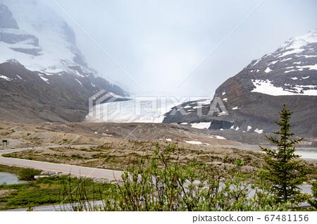 아사바스카 빙하를 관광 센터 -에서 찍은 풍경 쟈스빠 - 국립 공원 알바 - 타 캐나다 67481156