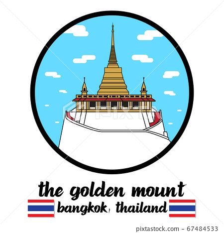 Circle icon The Golden Mount. vector illustration 67484533