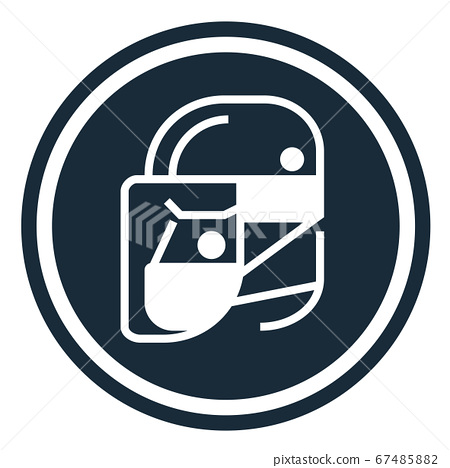 Simple wear protective Face shield icons for your design 67485882