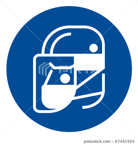 Simple wear protective Face shield icons for your design 67485884