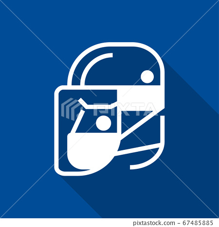 Simple wear protective Face shield icons for your design 67485885