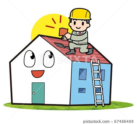 屋面瓦維修工作 67486489