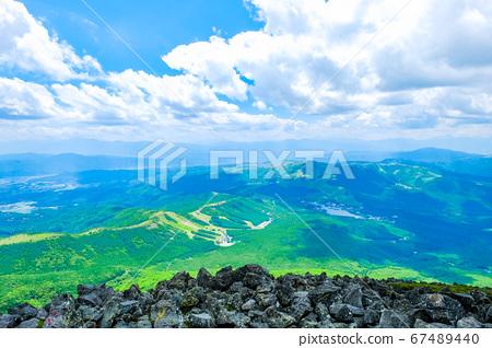초여름의 蓼科山 등산 : 정상에서 시라 카바 · 구루마 야마 · 기리가 미네 방면 희망 67489440