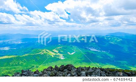 초여름의 蓼科山 등산 : 정상에서 시라 카바 · 구루마 야마 · 기리가 미네 방면 희망 67489442