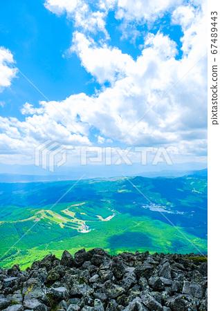 초여름의 蓼科山 등산 : 정상에서 시라 카바 · 구루마 야마 · 기리가 미네 방면 희망 67489443