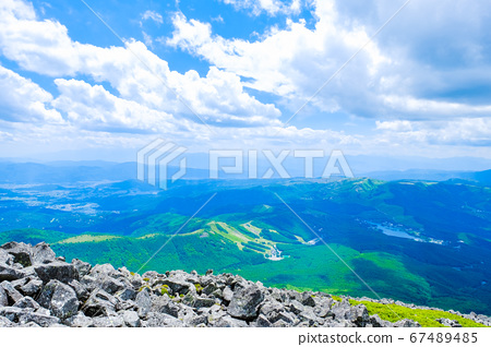 초여름의 蓼科山 등산 : 정상에서 시라 카바 · 구루마 야마 · 기리가 미네 방면 희망 67489485
