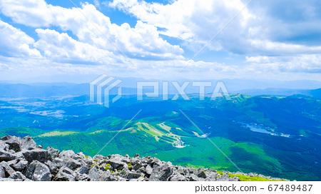초여름의 蓼科山 등산 : 정상에서 시라 카바 · 구루마 야마 · 기리가 미네 방면 희망 67489487