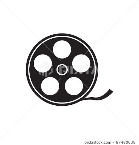 Movie vector icon video sign cinema symbol for your web site design, logo, app, UI. Vector illustration 67490039