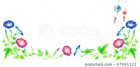 牽牛花畫水彩插圖 67491121