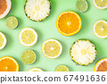 Collection of fresh lime, lemon, orange, citrus, 67491636