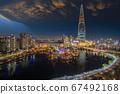 Night city scape of seoul city 67492168