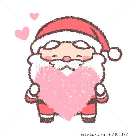 聖誕老人與心 67493377