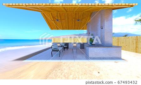 A terrace by the seaside 67493432