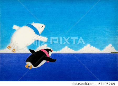 北極的Peggin和北極的Shillong是好朋友,外出進行空中游泳 67495269
