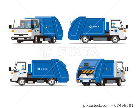 清潔站,垃圾收集,卡車4個角度組 67496381