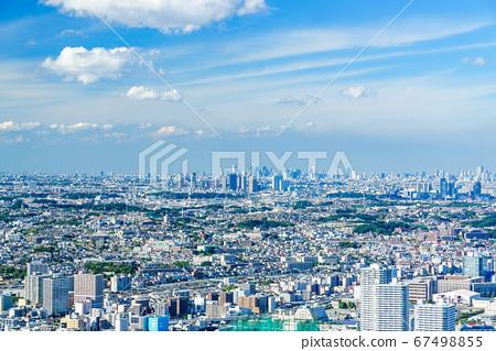 Kanagawa Prefecture Yokohama Cityscape overlooking the Yokohama Landmark Tower 67498855
