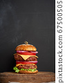 double cheeseburger with tomatoes, onions, 67500505