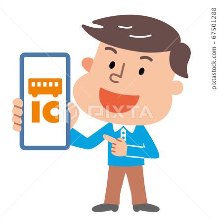 智能手機運輸IC卡男圖 67501288