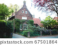 beautiful detached old brick house with garden in 67501864