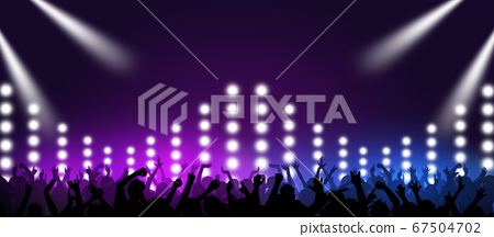 retro wave music party 67504702