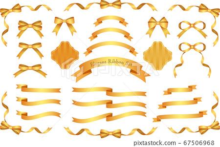 優雅緞帶套裝-金-紅金 67506968