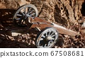 ancient historic gun in the stone canyon 67508681