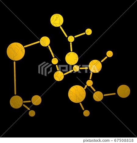 Golden sagittarius zodiac symbol 67508818