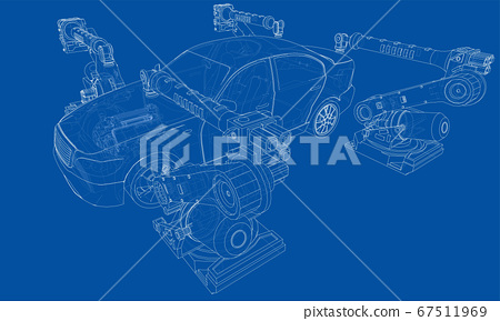 Assembly of motor vehicle 67511969