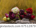 Wedding decoration with roses. Bouquet of mixed 67512879