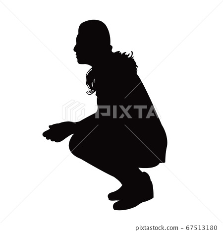 a woman body silhouette vector 67513180