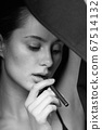 e-cigarette woman smoking sexy cigarettes electronic modern 67514132