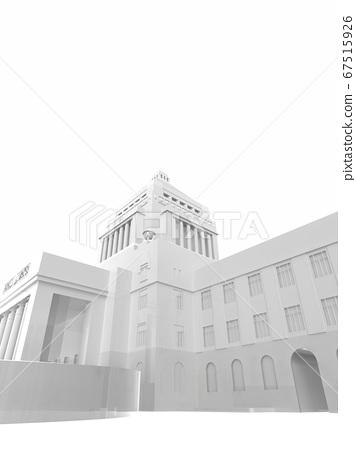 White image of Parliament building 3DCG illustration 67515926