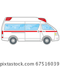 Ambulance with a pop illustration (working car) 67516039
