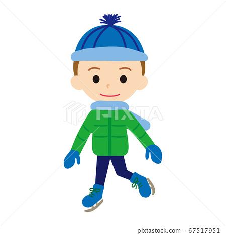 男孩滑冰 67517951