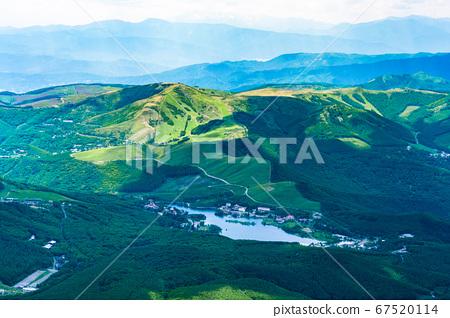 초여름의 蓼科山 등산 : 정상에서 시라 카바 · 구루마 야마 희망 67520114