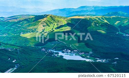 초여름의 蓼科山 등산 : 정상에서 시라 카바 · 구루마 야마 희망 67520115