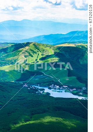 초여름의 蓼科山 등산 : 정상에서 시라 카바 · 구루마 야마 희망 67520116