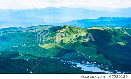 초여름의 蓼科山 등산 : 정상에서 시라 카바 · 구루마 야마 희망 67520120