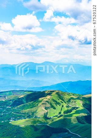 초여름의 蓼科山 등산 : 정상에서 구루마 야마 희망 67520122