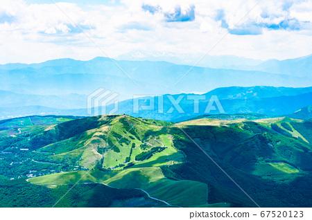 초여름의 蓼科山 등산 : 정상에서 구루마 야마 희망 67520123