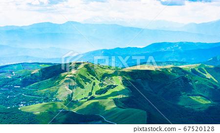 초여름의 蓼科山 등산 : 정상에서 구루마 야마 희망 67520128