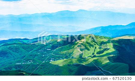 초여름의 蓼科山 등산 : 정상에서 구루마 야마 희망 67520130