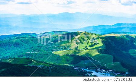 초여름의 蓼科山 등산 : 정상에서 구루마 야마 희망 67520132
