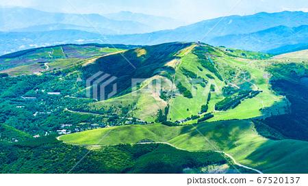 초여름의 蓼科山 등산 : 정상에서 구루마 야마 희망 67520137
