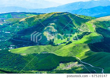 초여름의 蓼科山 등산 : 정상에서 구루마 야마 희망 67520147