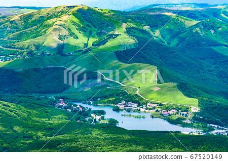초여름의 蓼科山 등산 : 정상에서 구루마 야마 · 시라 카바 희망 67520149